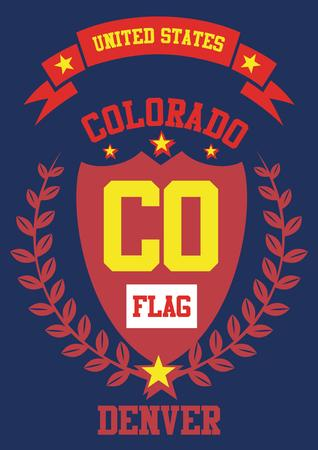 colorado, united state of america art Иллюстрация