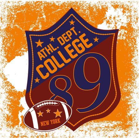 college sports badge art