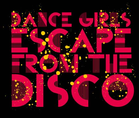 dance girls escape from the disco art Vector