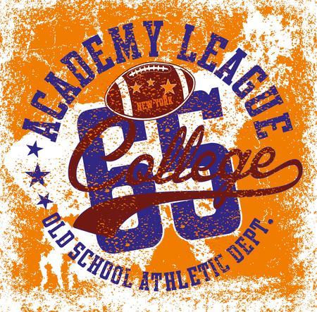 american college sports art Illustration