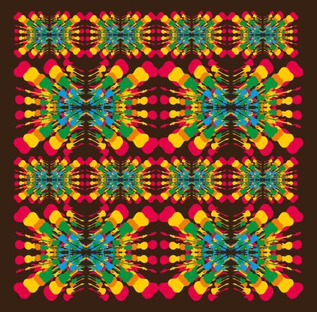 mix color guitar pattern art