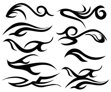 tattoo tribal wings art Vector