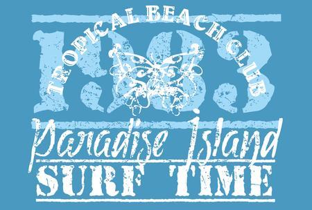 summer paradise long beach vector art