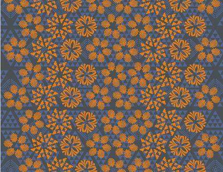flower with leaf pattern art