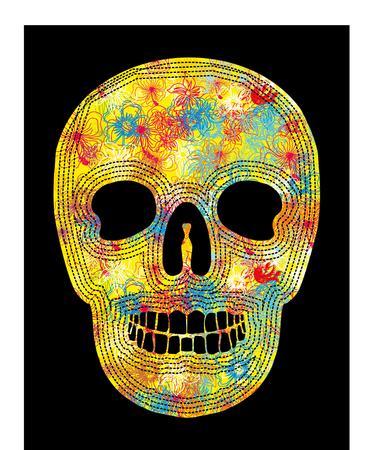 tattoo tribal skull art Illustration