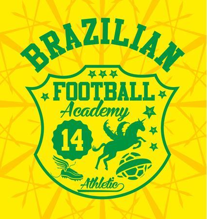 brazilian football badge art Illustration