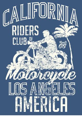 california retro  vector art