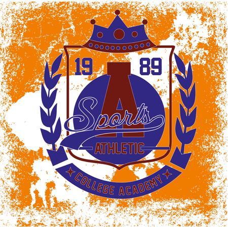 college badge vector art