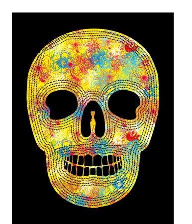 tribal skull vector art Illustration
