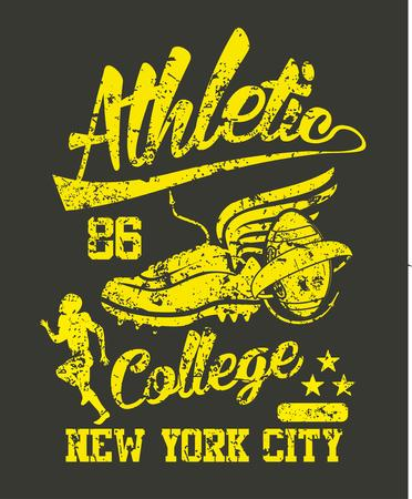 american college team vector art Illustration
