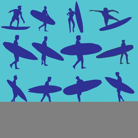 pacific surfer vector graphic design