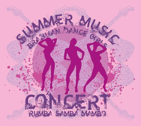 samba dance girls vector art