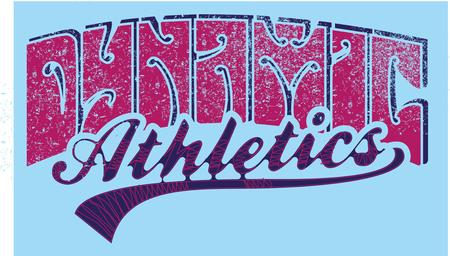 athletic sports slogan vector art Illustration