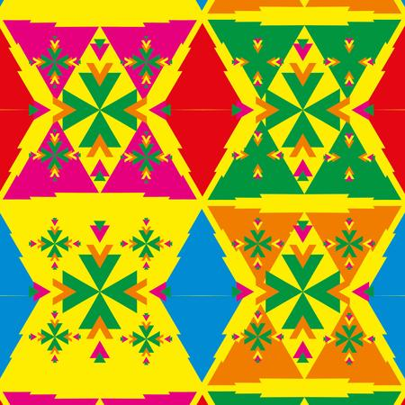 geometric ethnic design vector art Stock Vector - 29615014