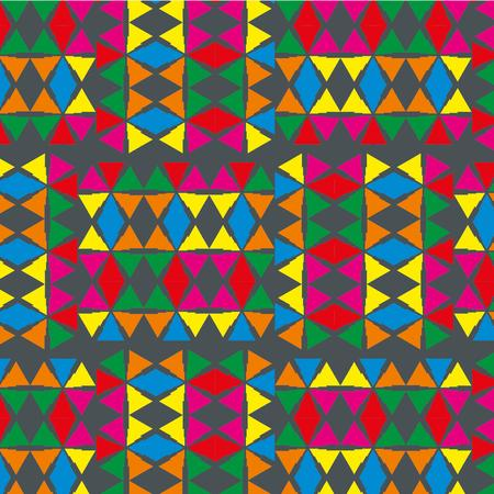 geometric ethnic design vector art Stock Vector - 29615016