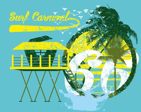 palm island vector art Illustration