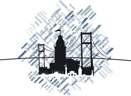istanbul city vector art Illustration