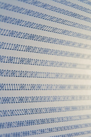Abstract binary code, shallow depth of field photo