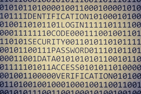 Binary code and few words about safety photo
