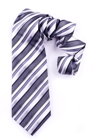 Part of a tie rolled into a spiral isolated Stock Photo - 10916326