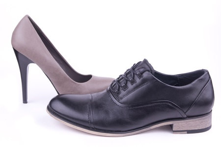 One male and one female shoe, isolated Stock Photo - 10916273
