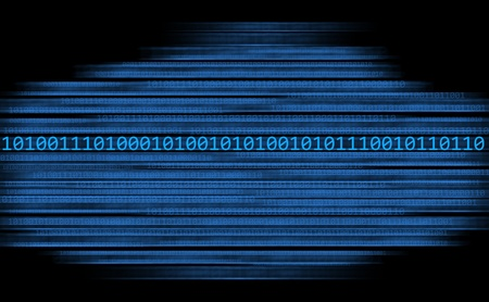 Binary code in a stream on a black background Stock Photo - 11042105