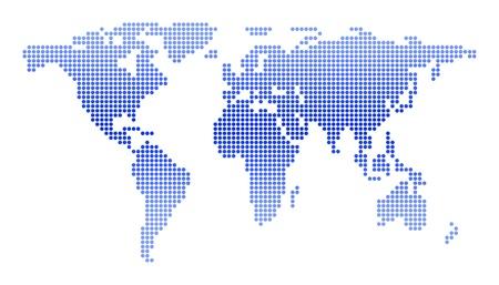 mapa conceptual: Mapamundi de c�rculos aislados Foto de archivo