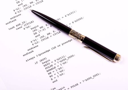 computer language: Part of the computer program and pen