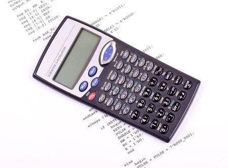 else: Part of the computer program and scientific calculator Stock Photo