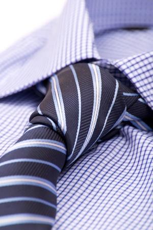 Blaues Hemd mit einer Krawatte Makro Standard-Bild - 12075377