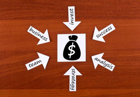 Words about money  on wood Stock Photo - 12075378