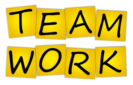 Word TEAM WORK on stickers Stock Photo - 12075408