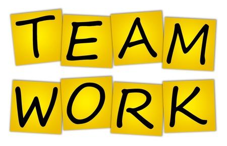 Word TEAM WORK on stickers Stock Photo - 12075408