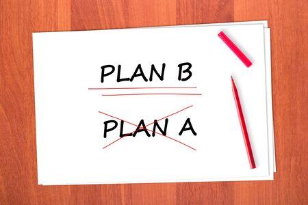 tachado: Elija la palabra PLAN B, tach� la palabra PLAN A