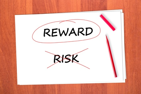 chose: Chose the word REWARD, crossed out the word RISK