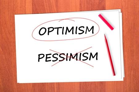 chose: Scegli l'ottimismo parola, cancellato il pessimismo parola