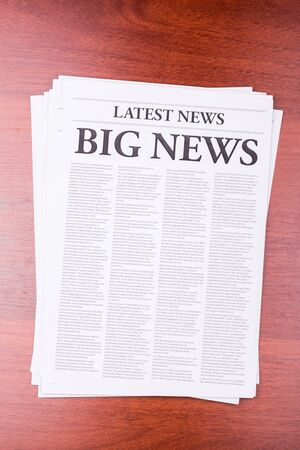 The newspaper LATEST NEWSwith the headline BIG NEWS Stock Photo - 13200079