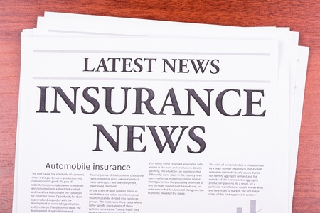 The newspaper LATEST NEWS with the headline  INSURANCE NEWS