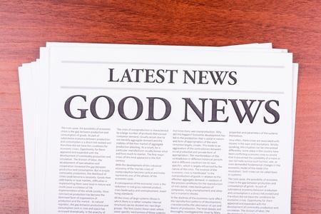 The newspaper LATEST NEWSwith the headline GOOD NEWS Standard-Bild