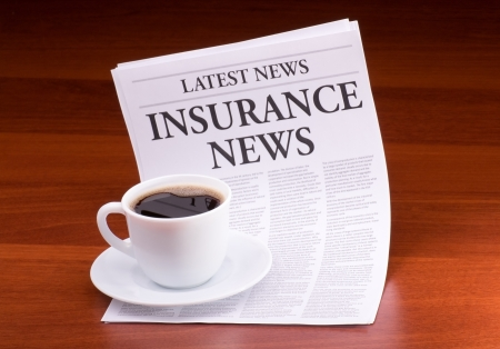 The newspaper LATEST NEWS on table Stock Photo - 13624543