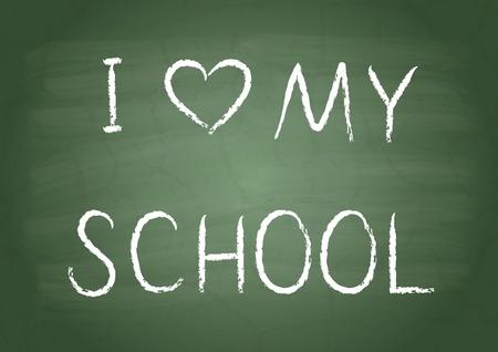 i nobody: I love my school on a green school board