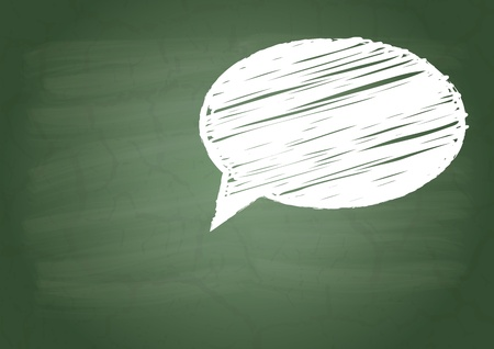 flaw: Talk sign on a green school board