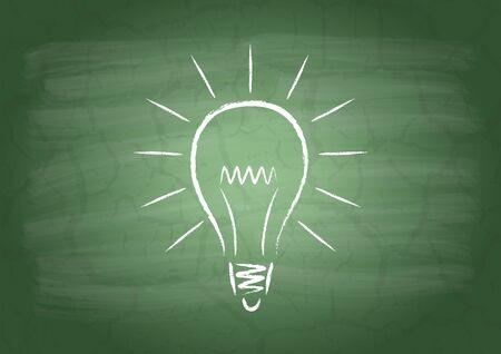 flaw: Lamp on a school blackboard
