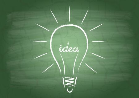 filament: Drawing light bulb filament from the word Idea
