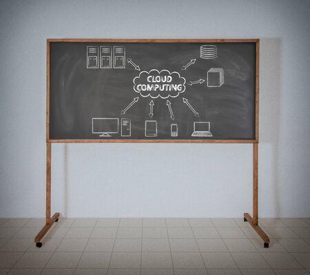 Cloud Computing auf eine Schultafel Standard-Bild - 22984383