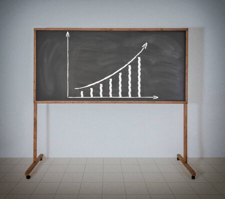 Graph of growth on a green school board photo