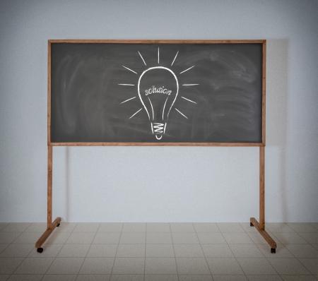 Zeichnung Glühbirne Filament aus dem Wort-Lösung Standard-Bild - 22984402