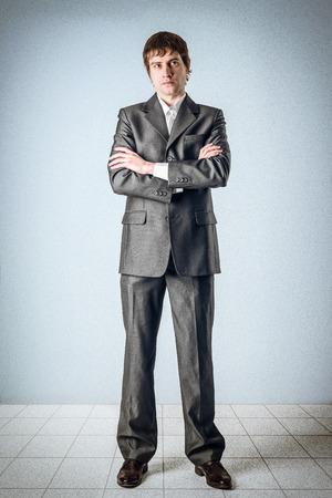 Geschäftsmann, der in den Raum Denken Standard-Bild - 24397659