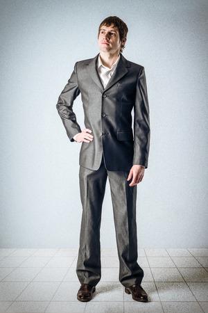 Business-Mann, der oben Standard-Bild - 24495286