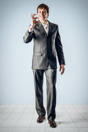 Geschäftsmann und alle richtig Standard-Bild - 24495287
